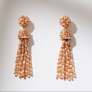 LOFT Beaded Tassel Earrings